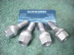 4 X GENUINE RENAULT CLIO MK2  SCENIC  MEGANE  ESPACE  ALLOY WHEEL NUT BOLTS
